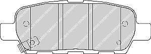 Ferodo FDB1693 Asse Posteriore. Alta Qualità Auto Set Pastiglia Freno Ricambio