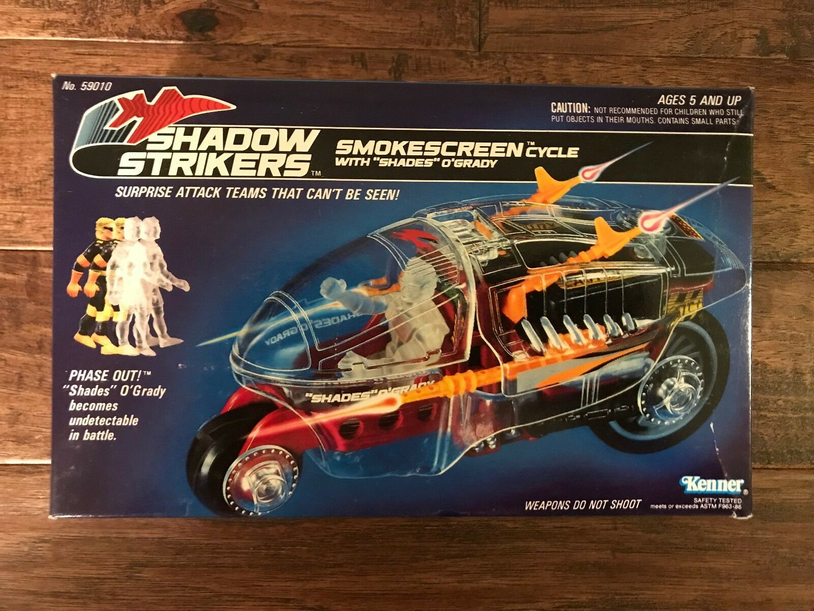 1990 Kenner    SHADOW STRIKERS  SMOKESCREEN CYCLE WITH SHADES O'GRADY Vehicle NEW  0fc10d