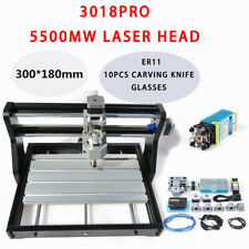 Cnc 3018 Pro Machine Router 3 Axis Engraving Grbl Control5500mw Laser Head Usb