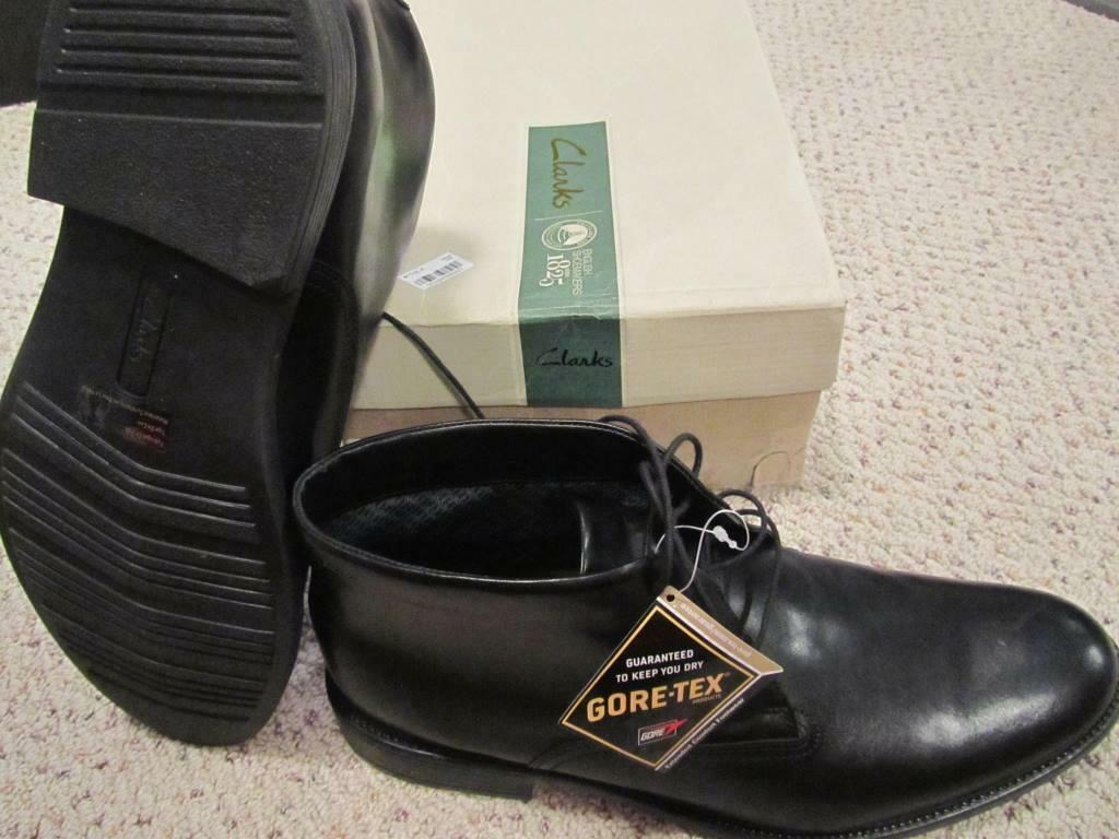 Clark's Fawley Goretex Mens Leather stivali NIB 13