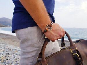 Sparsam Herren Armband Elegant Leger Leder Style #aussehen# ???????????? GläNzende OberfläChe