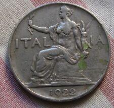 Buono da 1 Lira Nichelio -Stemma Coronato Italia seduta - C - 1922  -nr.538