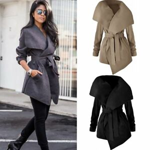 Fashion Women Ladies Winter Trench Coat Warm Parka Overcoat Long