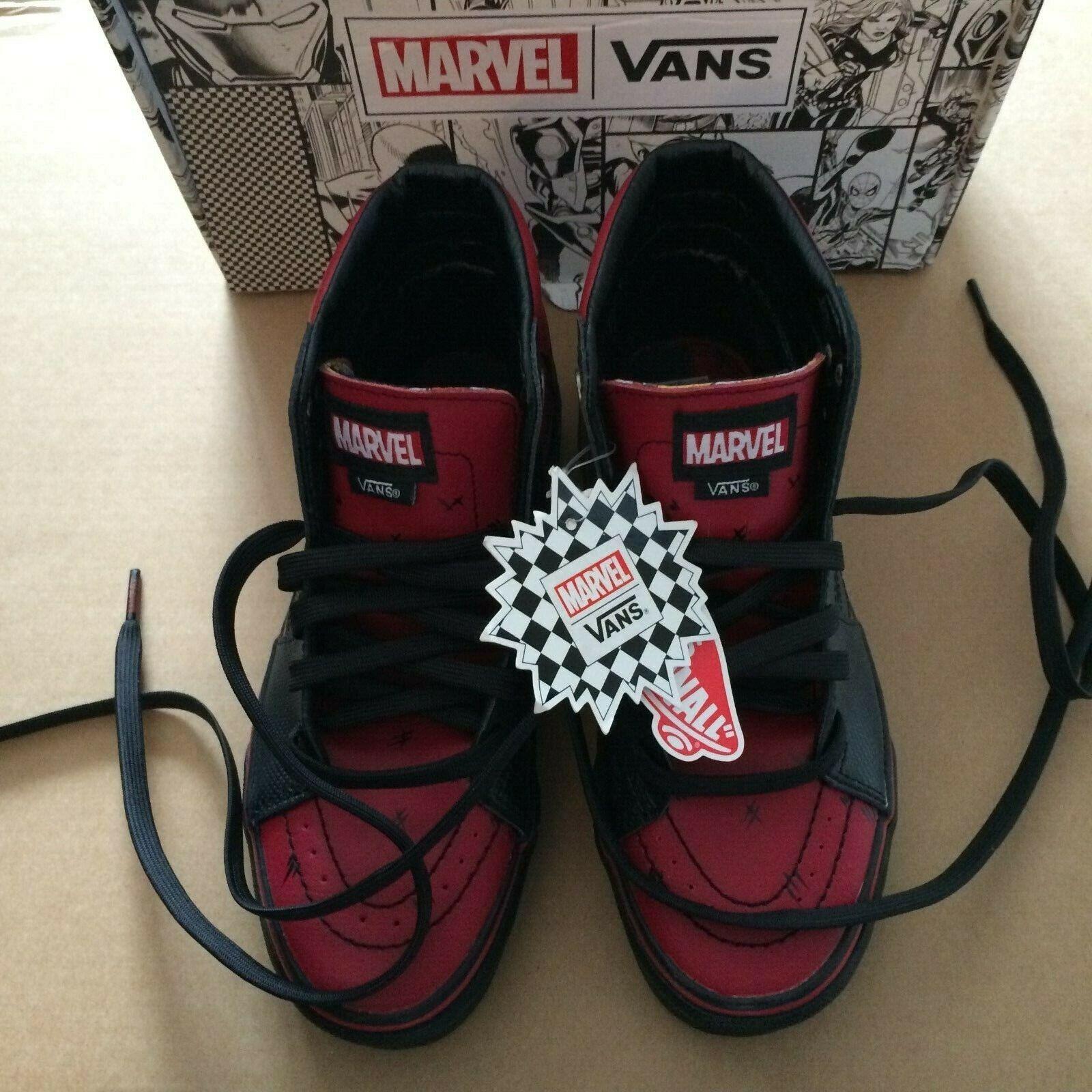 Vans Off The Wall Unisex Marvel shoes - - - Deadpool Black (Size  US Men 4.0 Wn 5.5) 1e47ef