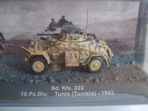 Sd.Kfz.222 Tunis 1943 Militär Magazinmodell 1:72 Tunesia 10.Pz.Div