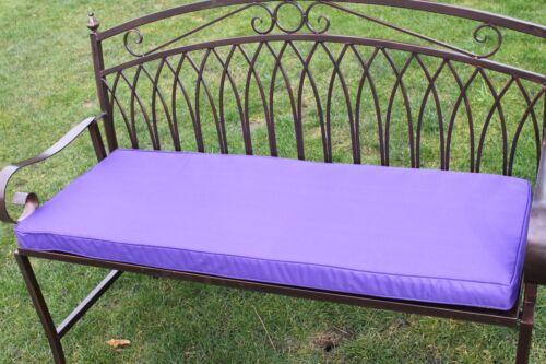 2 Seater Garden Furniture Cushion -Purple Cushion for Metal Garden Bench