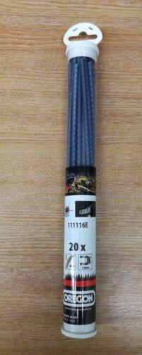 OREGON 111116E 4MM X 26CM X 20 PRE-CUT FLEXIBLADE NYLON STRIMMER LINE FREE P/&P