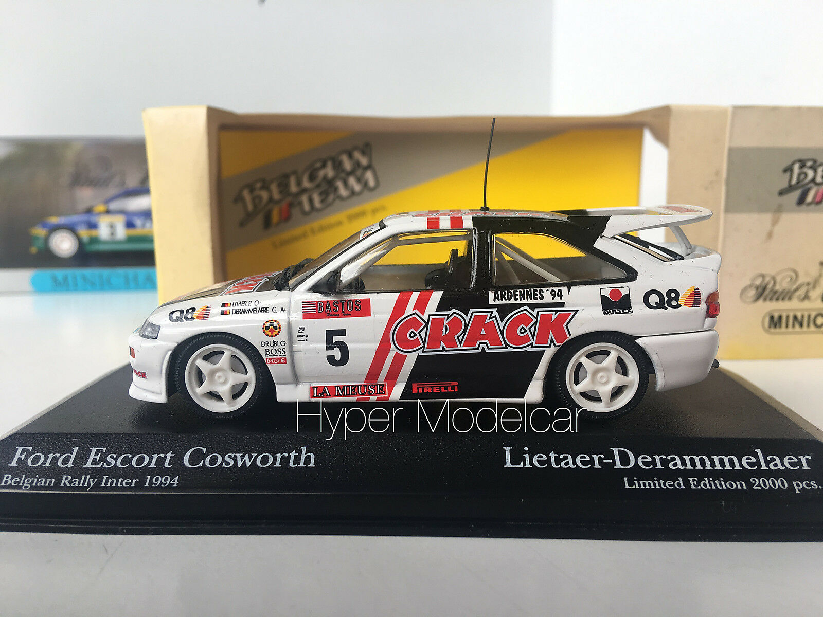 Minichamps 1 1 1 43 Ford Escort Rs Cosworth  5 Belgian Rally Inter1994 Art.430948205 d26650