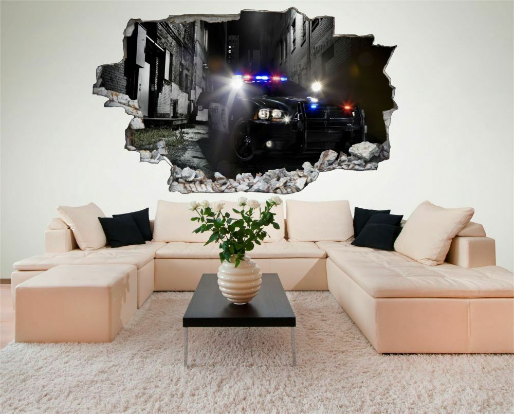 Voiture de police police voiture car Mural Mural car Sticker Autocollant c0546 b4dfd8