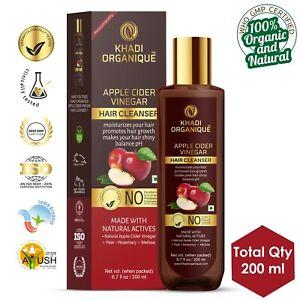 Apple Cider Vinegar Khadi Organic Shampoo 100% Herbal Chemicals Free Shinny Hair