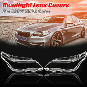 Car-LH-RH-Side-Headlight-Cover-Headlamp-Lens-Cover-For-BMW-E60-E61-5-series-UK