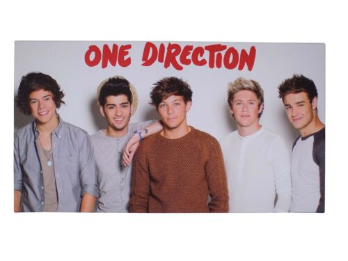 OFFICIAL LICENSED ONE DIRECTION WHITE RED LOGO CANVAS PICTURE 55CM X 30CM X 2CM