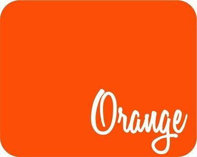 "Stahls/' Flock Heat Transfer Vinyl HTV Orange 12/"" x 5 Yards"
