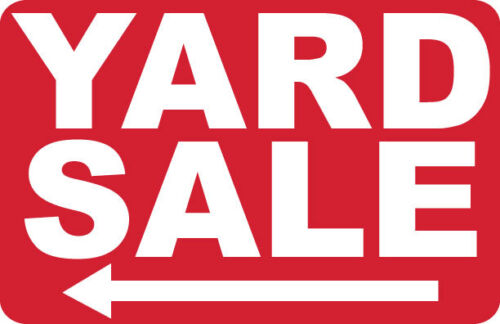 #PS-425 YARD SALE /<----- 2 SIGNS