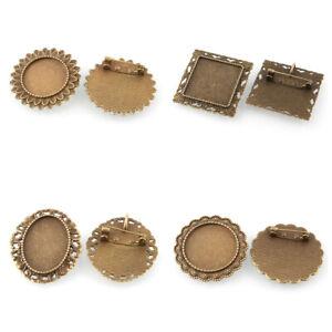 10pc-Vintage-Alloy-Flower-Brooch-Making-Cabochon-Bezel-Settings-Bronze-Bead-Tray