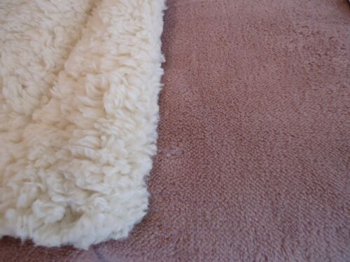 "130 cm x 150 cm 1 Chateau Lin Flannel Plush Sherpa Throw Peach 50/"" x 60/"""