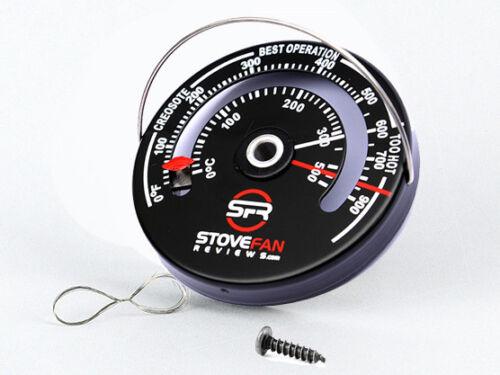 SFR magnétique Poêle à bois Thermomètre-Flue pipe Jauge avec une vis et un fil