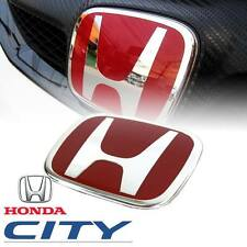 RED H LOGO EMBLEM BADGE DECAL PLATE FIT FOR HONDA CITY 2008 2009 2010 2011 12 13