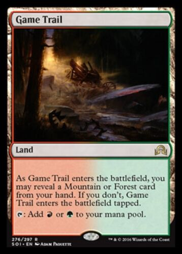 Rare Land Shadows over Innistrad SOI Magic Card MTG: Game Trail