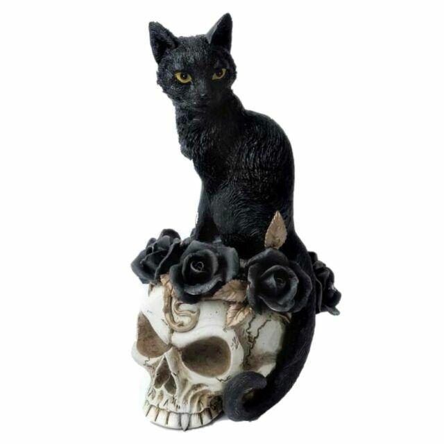Bronze Effect Twin Cats Sitting Design Sculpture Ornament Figurine
