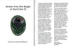 """GERMAN ARMY WAR BADGES OF WORLD WAR II"" BY GORDON WILLIAMSON & JAMIE CROSS"