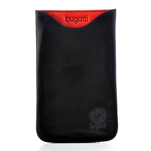 Bugatti Handytasche Case Skinny 07958, glowing coal