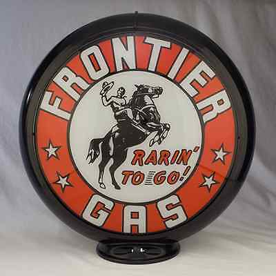 FRONTIER GASOLINE GAS PUMP GLOBE SIGN