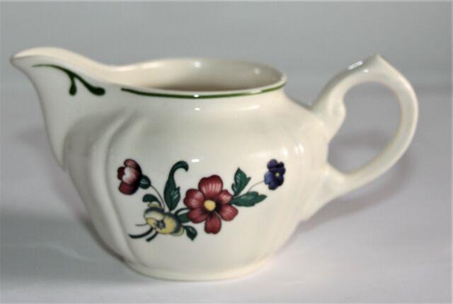 Krasilnikoff Pot /à Lait Petit Pot /à Cr/ème Pot Porcelaine Creamer Happy /Étoile Rayures Roses Rayures Gris Carafe de Lait