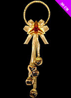 Jingle Bells Gold Festive Christmas Door Hanger Decoration 5 Bells