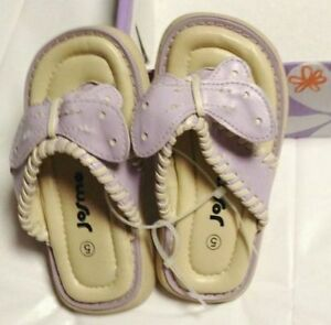 Josmo-Purple-Butterfly-Sandals-NEW-Size-5-Toddler