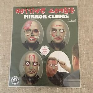 Zombies-Mirror-Clings-Council-of-Monsters-Gore-Halloween-Rotting-19-Pieces