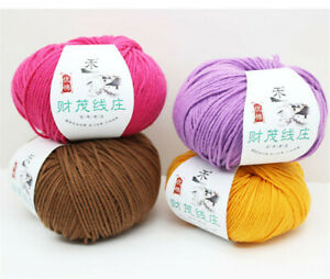 1-skeins-X-50G-Yarn-Cotton-Knitting-4Ply-Crochet-Baby-Hand-Craft-Yarns-34-Colors