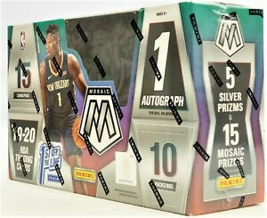 Panini-Prizm-Mosaic-2019-20-Basketball-SEALED-FOTL-Hobby-Box-ZION