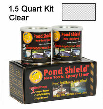 Clear 1.5 Quart Kit Pond Armor Shield Non Toxic Epoxy Sealer Pond Liner Paint