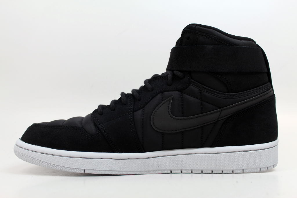 best-selling model of the brand Nike Air Jordan 1 High Strap Black/Black-Pure Platinum 342132-004 Men's Price reduction