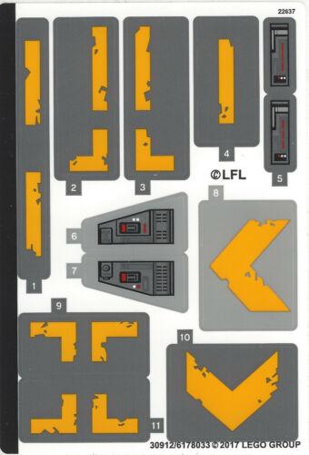 Simpson,Star Wars Stickers Original LEGO neuf de 71000 à 75860