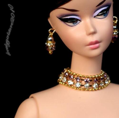 """Handmade doll jewelry necklace earrings for Barbie doll and 11.5/"""" dolls 811A"""