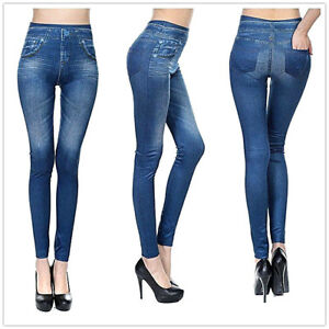 51956d80c5f New GENIE SLIM JEGGINGS Sz S M L XL 2X Denim Plush Lined Stretch ...