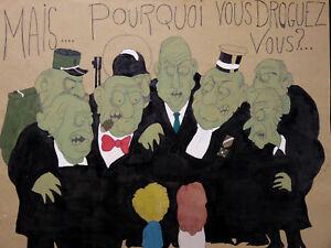 DéVoué Serge Cogan (xx) Mais Pourquoi Vous Droguez-vous ? Bande Dessinée Caricature Renforcement Des Nerfs Et Des Os