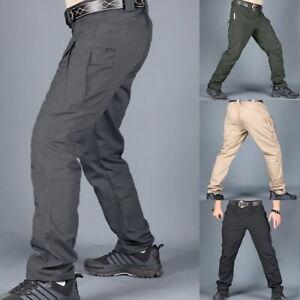 Hombres-Pantalones-Tacticos-Impermeable-Transpirable-Senderismo-Outdoor-Trekking-Cargo-Pantalones