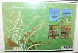 FRANCOBOLLI-FRANCIA-2010-SALONE-DEL-TIMBRO-FOGLIO-USED-BLOCK-C-W