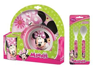 Image is loading Minnie-Mouse-Hearts-&-Flowers-5pc-Tumbler-Bowl-  sc 1 st  eBay & Minnie Mouse Hearts \u0026 Flowers 5pc Tumbler Bowl Plate Set \u0026 Cutlery ...