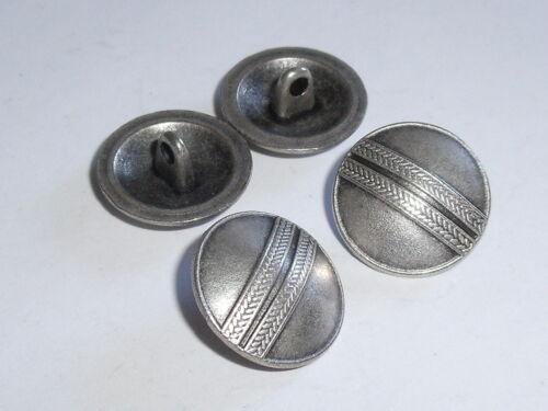 6 Stück Metallknöpfe Ösenknopf Knopf Trachten  17 mm altsilber NEUWARE #737.2#