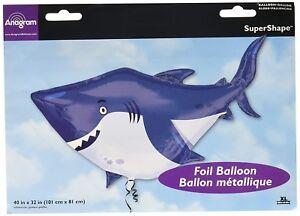 40-034-Shark-Super-Shape-Mylar-Foil-Balloon-Party-Decorating-Supplies