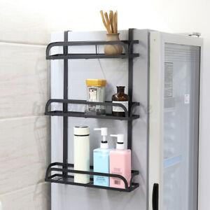 Wall-Mount-Refrigerator-Side-Hanger-Storage-Rack-Freezer-Shelf-Organizer-Kitchen