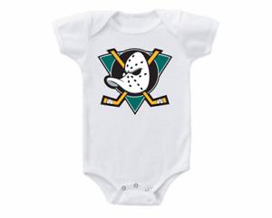 Anaheim Ducks Onesie Bodysuit Shirt Baby Shower Gift Vintage Logo