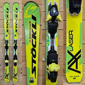 Ski occasion Stöckli Laser AX 2018 + Fixation Salomon AM12 Black/Yellow