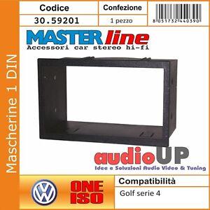 design unico le migliori marche outlet in vendita MASCHERINA AUTORADIO 2 DIN VOLKSWAGEN GOLF SERIE 4 ADATTATORE DUE ...