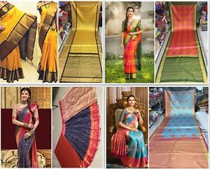 Designer Cotton Saree Indian Pakistani Party Wear Traditional Sari Bollywood SV