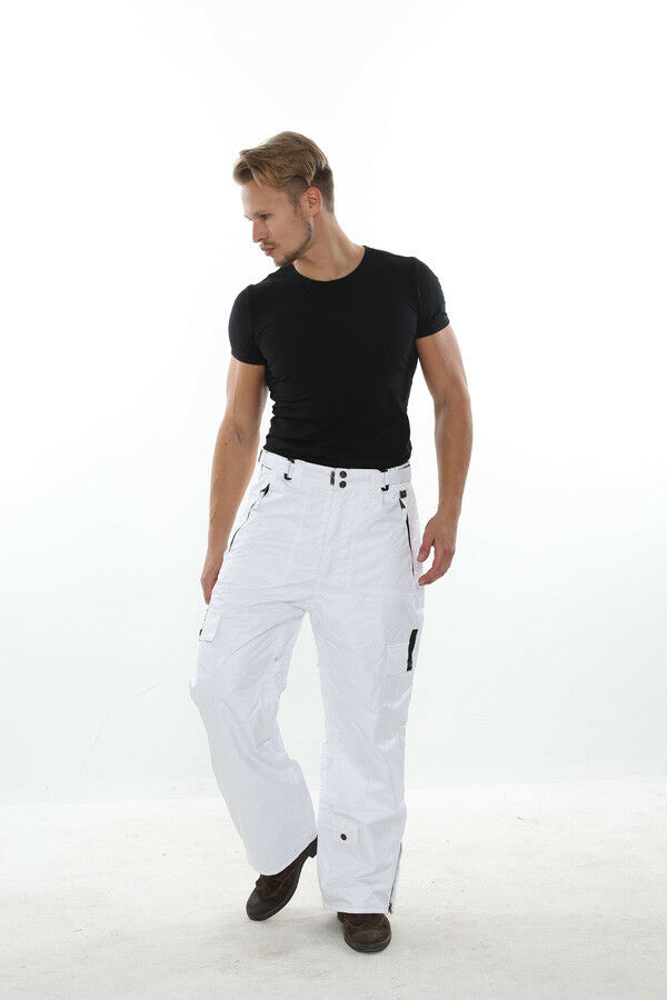 XL Mens Ski   Snowboard Pants PERYSHER PERFORMANCE [Stylish White] Best Match